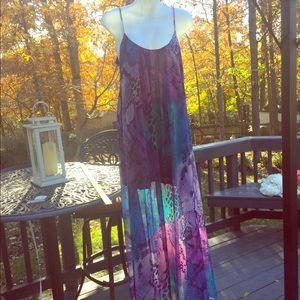 SMYM adjustable snake print Maxi Dress